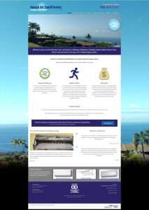 Hawaiiairconditioning.com - Responsive website design with a fixed placement return to top button